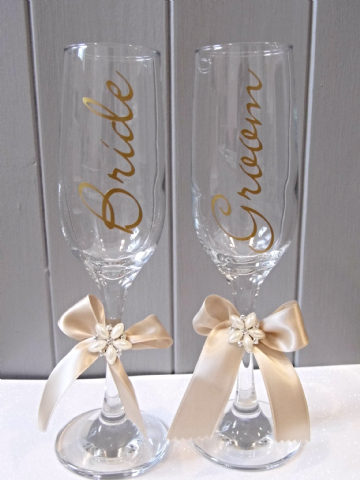 Wedding Champagne Toast Glasses - CG 01